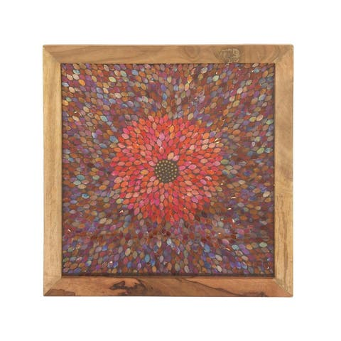 Studio 350 Wood Mosaic Wall Panel 24 inches wide, 24 inches high