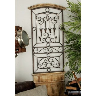 Shop Studio 350 Wood Metal Wall Decor 56 Inches High 21