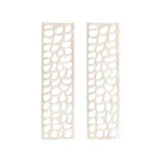 Studio 350 Aluminum Wall Decor Set of 2, 9 inches wide, 32 inches high