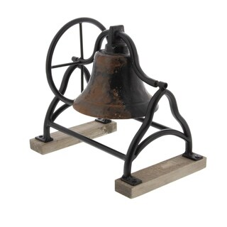 Studio 350 Metal Wood Bell 10 inches wide, 9 inches high