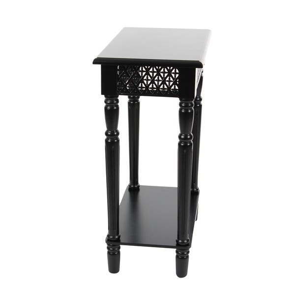 Studio 350 Wood Black Side Table 18 inches wide, 27 inches high