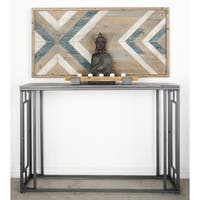 Studio 350 Metal Wood Console Table 48 inches wide, 33 inches high