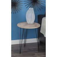 Studio 350 Metal Wood Accent Table 18 inches wide, 22 inches high
