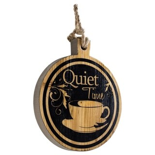 Quiet Time Coffee Tea Cup Wood Wall Decor