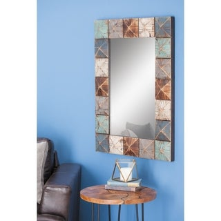 Studio 350 Wood Wall Mirror 27 inches wide, 37 inches high