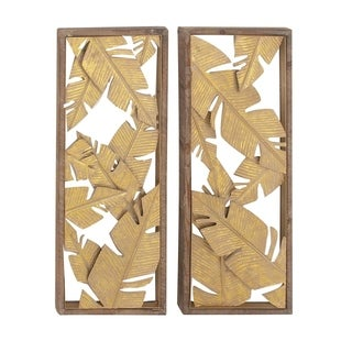 Havenside Home Buckroe 2-piece Metal Wood Wall Decor Set
