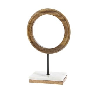 Studio 350 Wood Metal Marble Ring 9 inches wide, 14 inches high