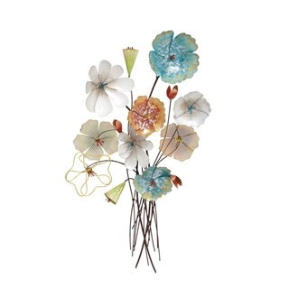 Copper Grove Iris Metal Wall Decor 18 inches wide, 37 inches high
