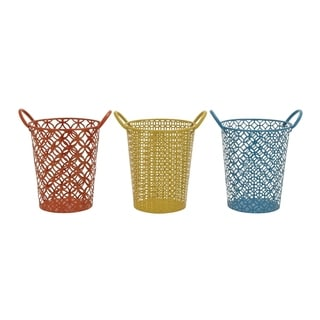 Studio 350 Metal Basket Set of 3, 12 inches wide, 13 inches high
