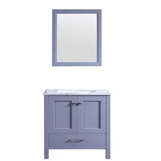 "Totti Shaker 30"" Transitional Grey Bathroom Vanity with"