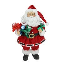 "12"" Santa Claus Holding Tootsie Pops Christmas Tabletop Decoration"