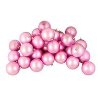 "32ct Shatterproof Matte Bubblegum Pink Christmas Ball Ornaments 3.25"" (80mm)"