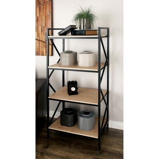 Studio 350 Metal Wood Shelf 25 inches wide, 56 inches high