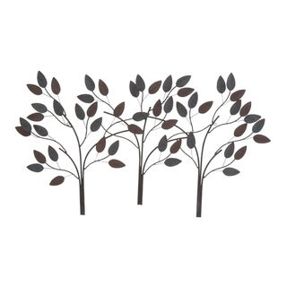 Copper Grove Kitty Metal Leaf Wall Decor 48-inches wide, 27-inches high