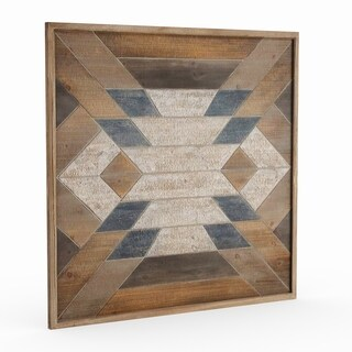 Studio 350 Wood Wall Plaque 40 inches wide, 40 inches high