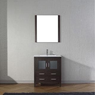 Virtu USA Dior 30-inch Ceramic Single Bathroom Vanity Set with Faucet Options