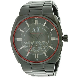 Armani Exchange Black Stainless Steel Mens Watch AX1801