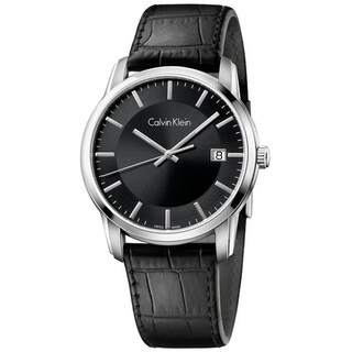 Calvin Klein Infinity Leather Mens Watch K5S311C1