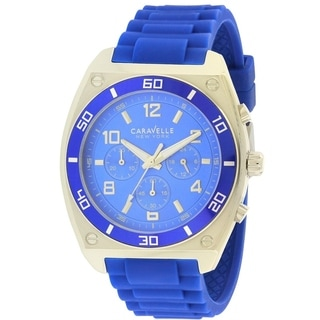 Caravelle New York Silicone Chronograph Mens Watch 45A115