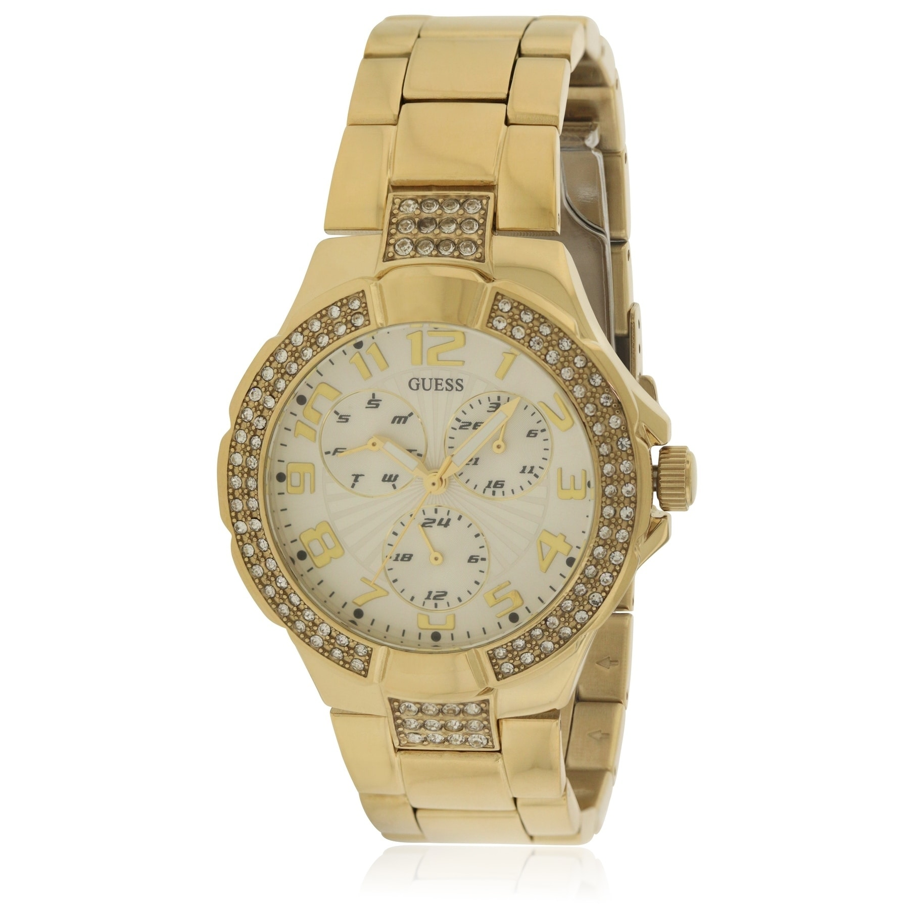 Guess Gold Waterpro Ladies Watch G13537L, White, Size One...
