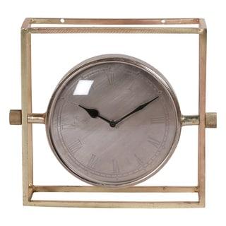 Renwil Tim Brass Plated Clock