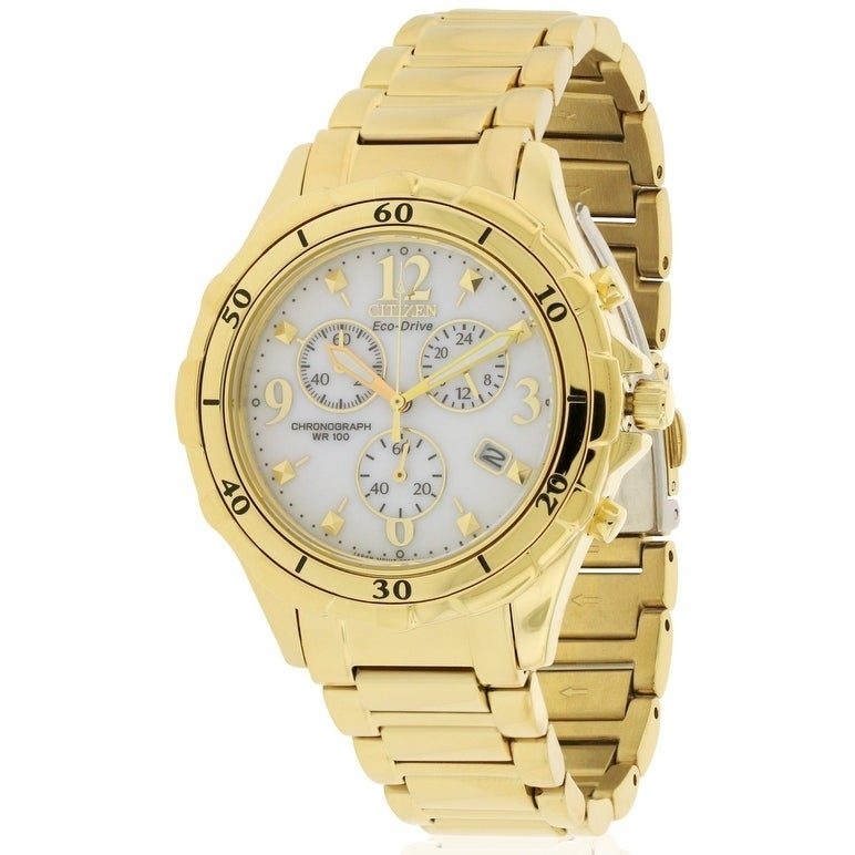 Citizen Eco-Drive Chronograph Ladies Watch FB1352-52A, Wh...