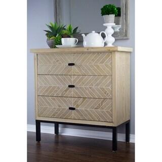 Heather Ann Creations Urban Collection 3-Drawer Parquet Accent Cabinet