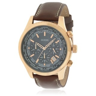 GUESS Leather Chronograph Mens Watch