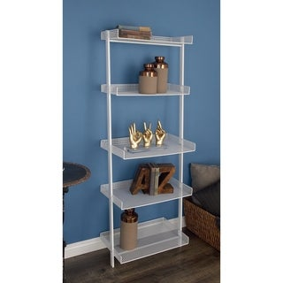 Studio 350 Metal White Leaning Shelf 23 inches wide, 62 inches high