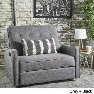 Calliope Buttoned Fabric 2-Seater Recliner Club Chair by Christopher Knight Home
