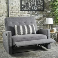 Christopher Knight Home Calliope Buttoned Fabric 2-Seat Recliner Club Chair