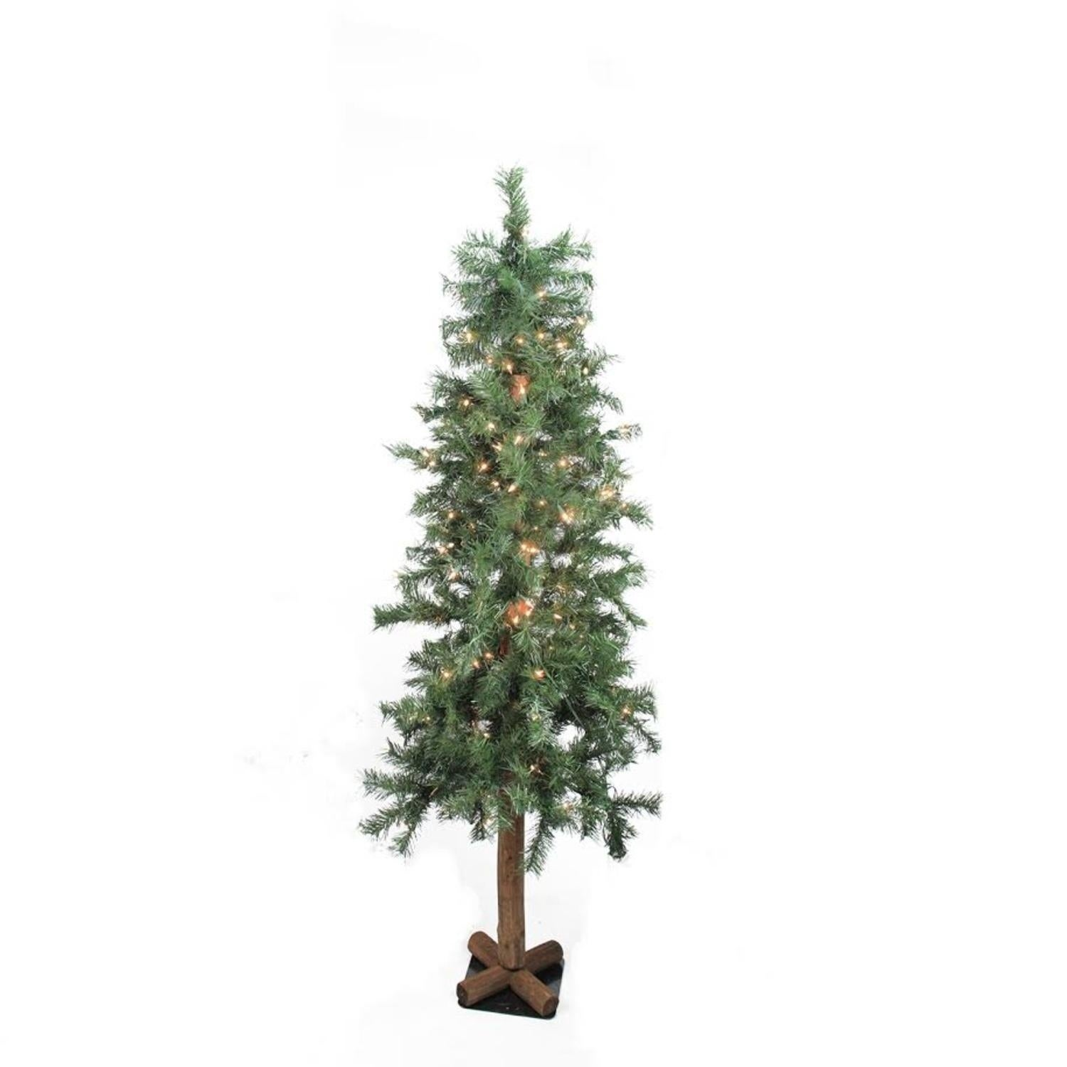 4' Pre-Lit Woodland Alpine Artificial Christmas Tree - Cl...