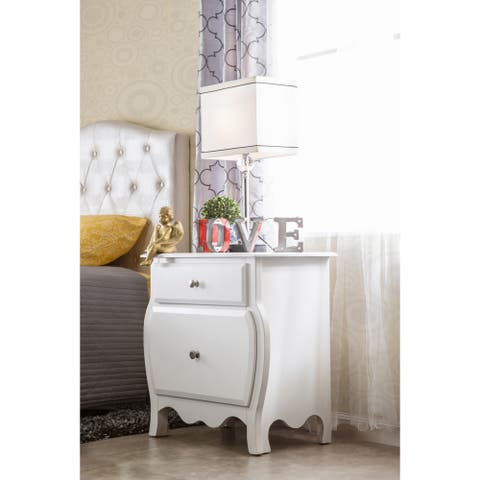 Taylor & Olive Panther Contemporary White Youth 2-drawer Nightstand