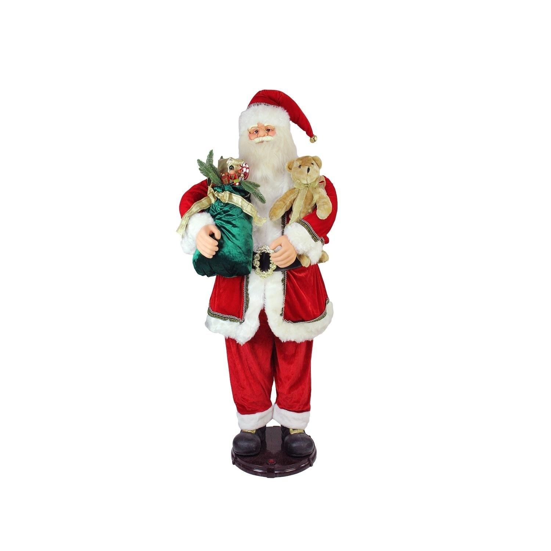 5' Deluxe Traditonal Animated and Musical Dancing Santa C...