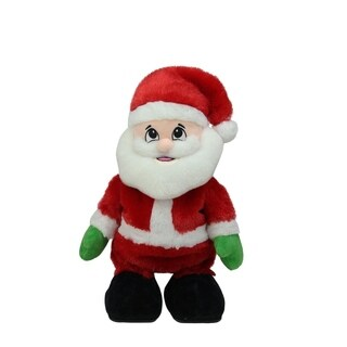 """Pack of 6 Animated Tickle 'n Laugh Santa Claus Plush Christmas Figures 12"""""""