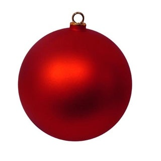 "Shatterproof Matte Red Hot Commercial Christmas Ball Ornament 12"" (300mm)"