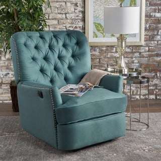 Salomo Tufted Fabric Power Recliner Club Chair by Christopher Knight Home