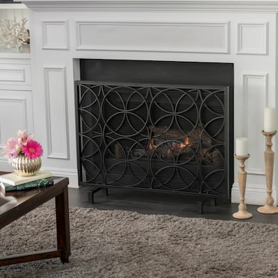 Valeno Single Panel Fireplace Screen by Christopher Knight Home