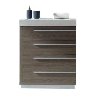 vanity and work desk combo. Virtu USA Bailey 30 inch Polymarble Single Bathroom Vanity Partset Modern Vanities  Cabinets For Less Overstock com