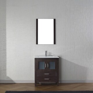 Virtu USA Dior 28-inch Ceramic Single Bathroom Vanity Set with Faucet Options