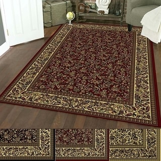 Admire Home Living Caroline Floral Heat-set Emerlen Rug (5'5 x 7'7) - 5'5 x 7'7