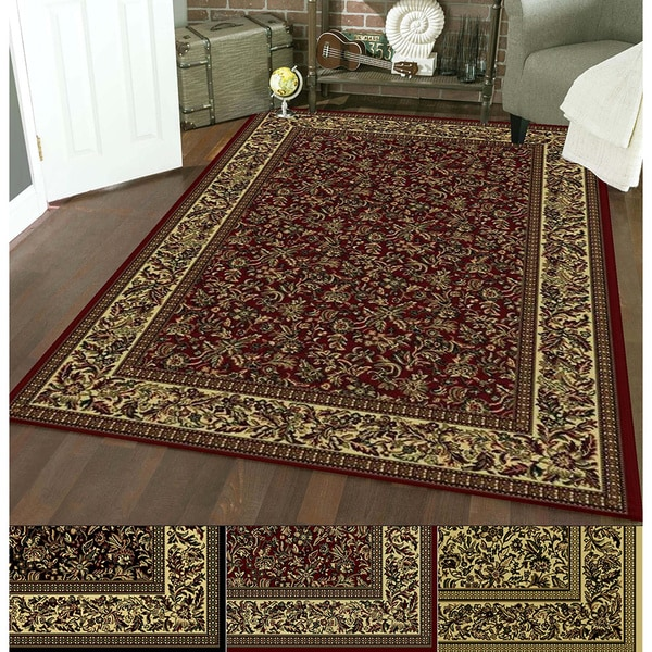 Admire Home Living Caroline Floral Heat-set Emerlen Rug (7'9 x 11')
