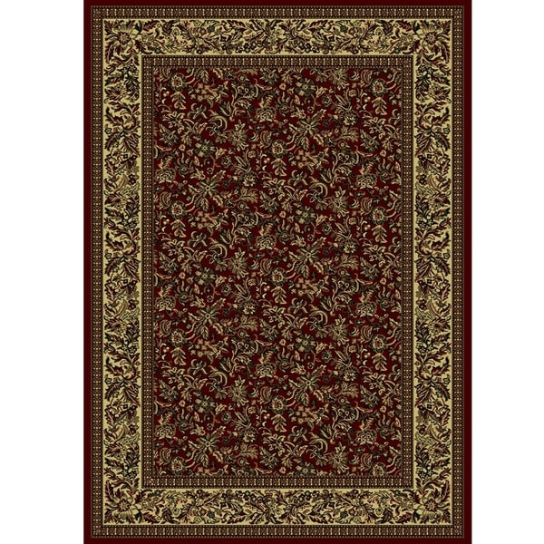 Admire Home Living Caroline Floral Heat-set Emerlen Rug (7'9 x 11') - 7'9 x 11'