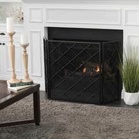 Chelsey 3-Panel Iron Fireplace Screen by Christopher Knight Home