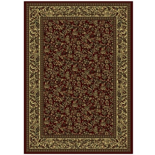 Admire Home Living Caroline Floral Heat-set Emerlen Rug (9'10 x 12'10)