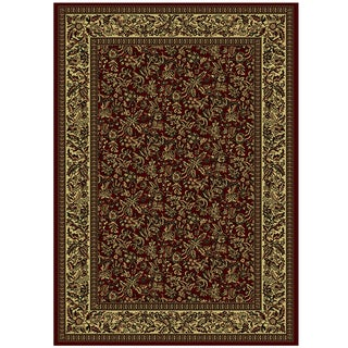 Admire Home Living Caroline Floral Heat-set Emerlen Rug (9'10 x 12'10) - 9'10 x 12'10