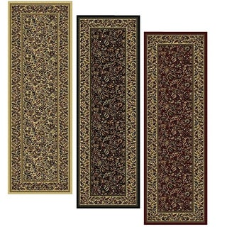 Admire Home Living Caroline Floral Heat-set Emerlen Runner Rug (2'2 x 7'7) - 2'2 x 7'7