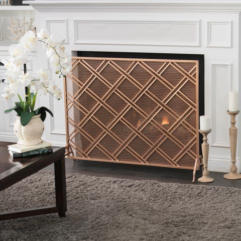 Josette Single Panel Iron Fireplace Screen by Christopher Knight Home