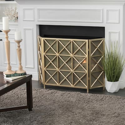 Margaret 3-Panel Fireplace Screen by Christopher Knight Home