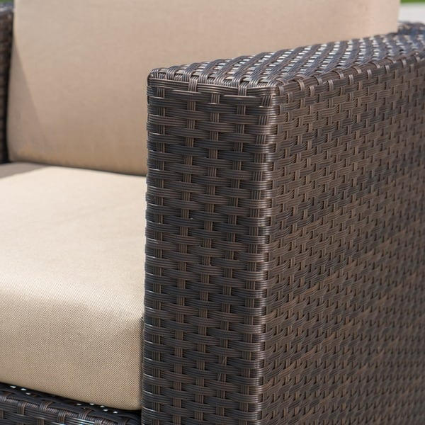 Tremendous Shop Puerta Outdoor Wicker Swivel Club Chair With Cushions Pabps2019 Chair Design Images Pabps2019Com